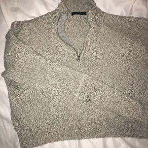 Brandy Melville Sweaters - Brandy Melville quarter zip knit grey sweater
